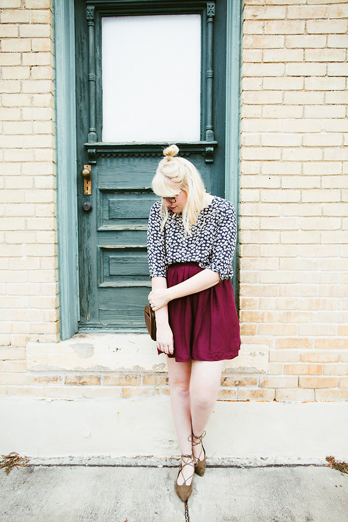 writes like a girl fall outfit colorblock jewel tones6
