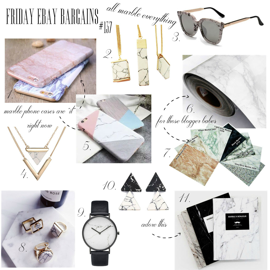 Friday Ebay bargains marble everything
