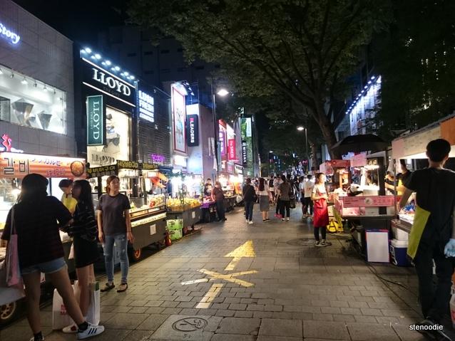 Myeongdong street eats