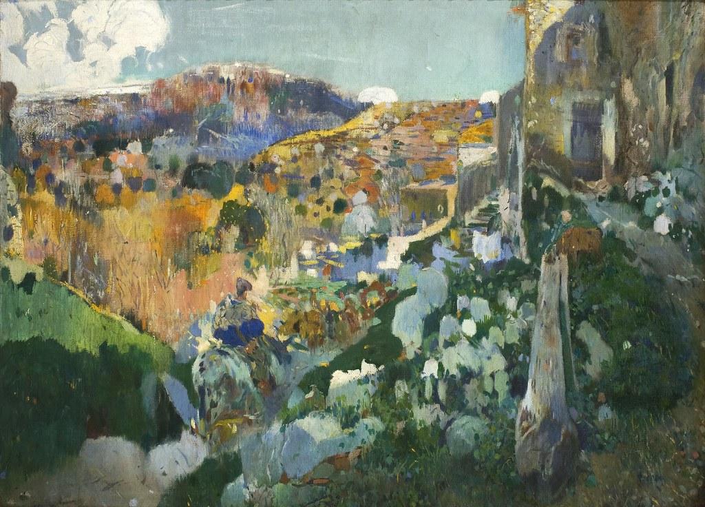 «Les joyaux», tableau de Joaquim Mir au MNAC de Barcelone.
