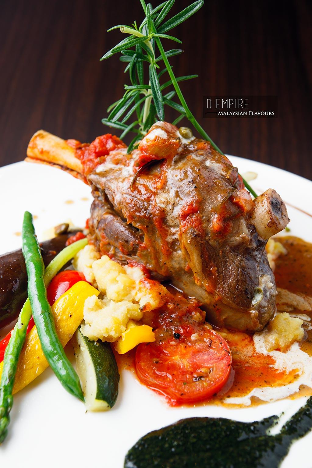 D Empire European Cuisine lamb shank