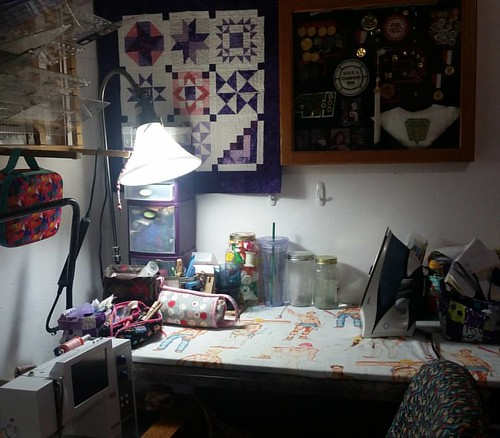 Sewing room clean up instead of sewing, but I love it! Now, what to work on?