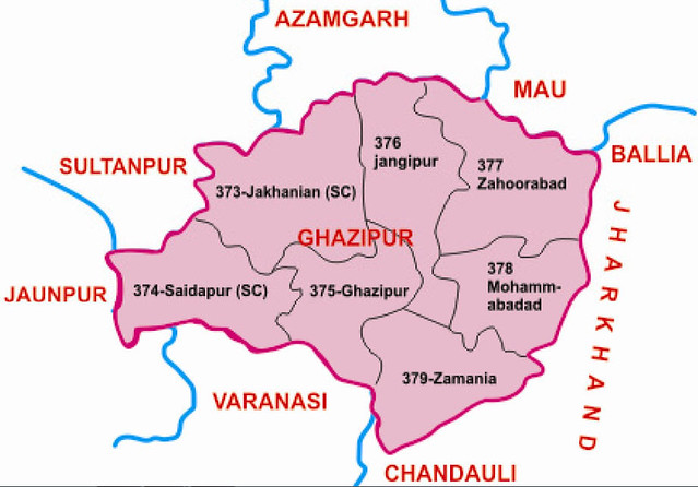 Ghazipur district Uttar Pradesh Election 2017