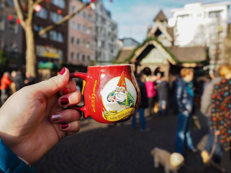 Gluhwein mug at Cologne Christmas market