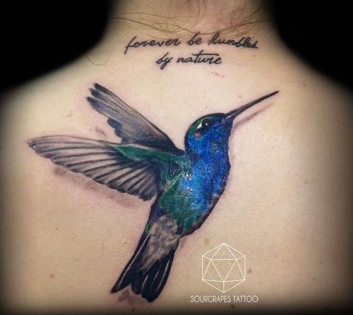 Realistic hummingbird tattoo sourgrapes tattoo latin for Studio 42 tattoo