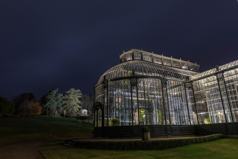 Conservatory at night.