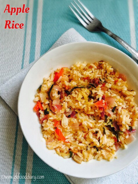 Apple Rice Recipe for Toddlers and Kids2