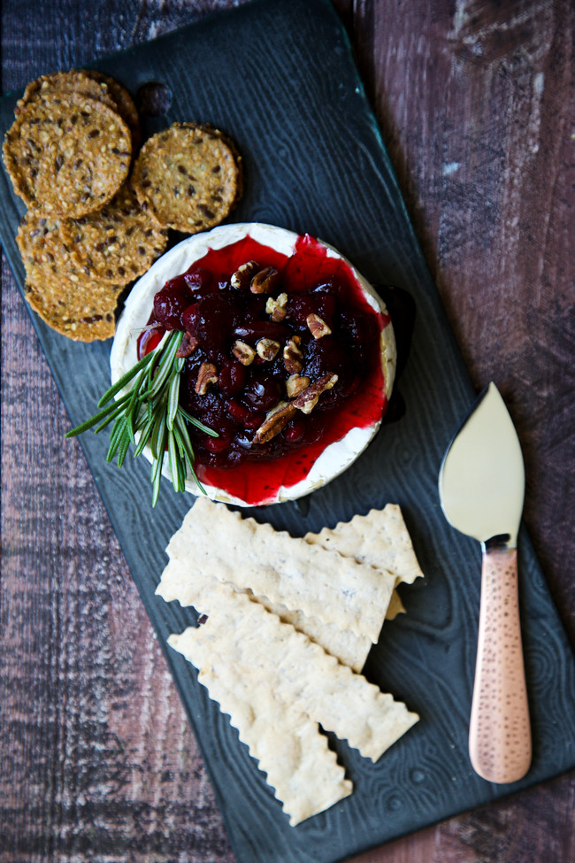 Cranberry Pomegranate Baked Brie