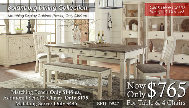 Bolanburg Dining Collection D647-25-01(2)-00(2)-60-76-R40114