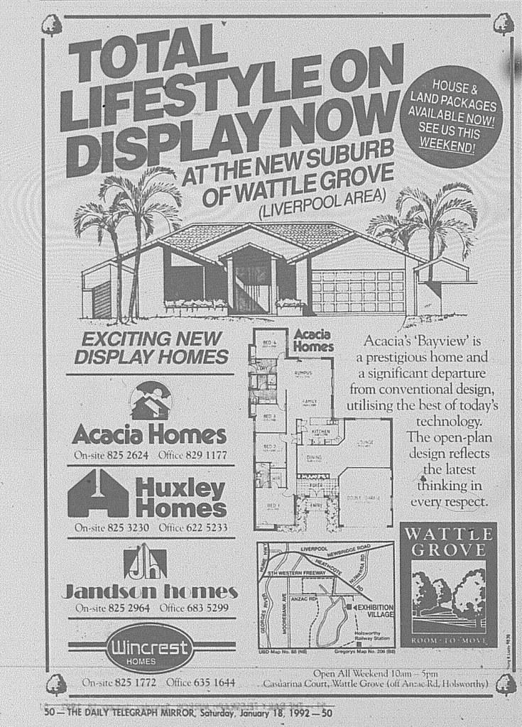 Wattle Grove Ad January 18 1992 Daily Telegraph 50