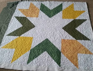 Giant Starburst quilted.