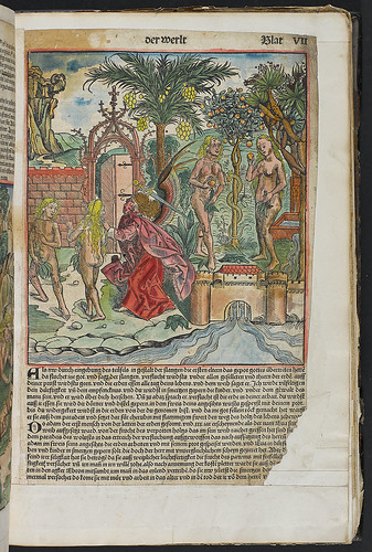 Schedel, Hartmann: Liber chronicarum [German] - Hand coloured woodcut