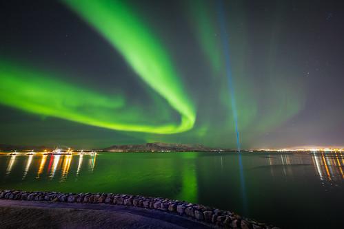 Northern Lights dancing around Esjan
