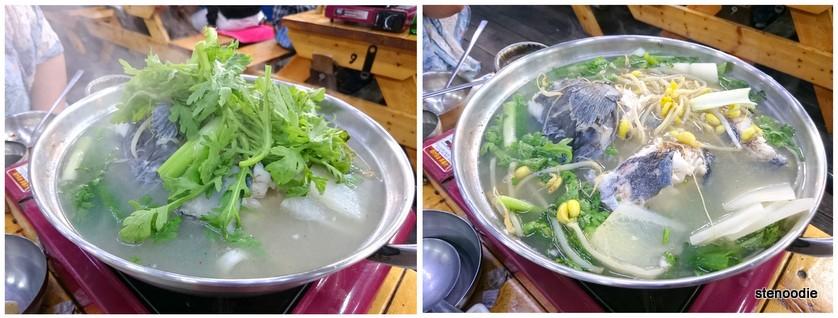 Fresh Korean fish soup