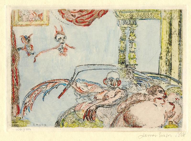 James Ensor - Lust (La Luxure) from The Deadly Sins (Les Péchés capitaux) colored, 1888