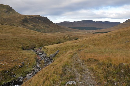 Looking back down Gleann na Guiserein