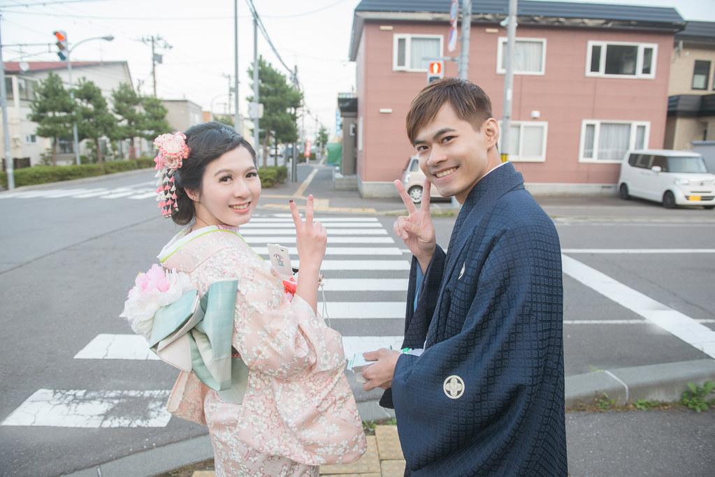 和服婚紗,日式小清新婚紗,北海道函館婚紗
