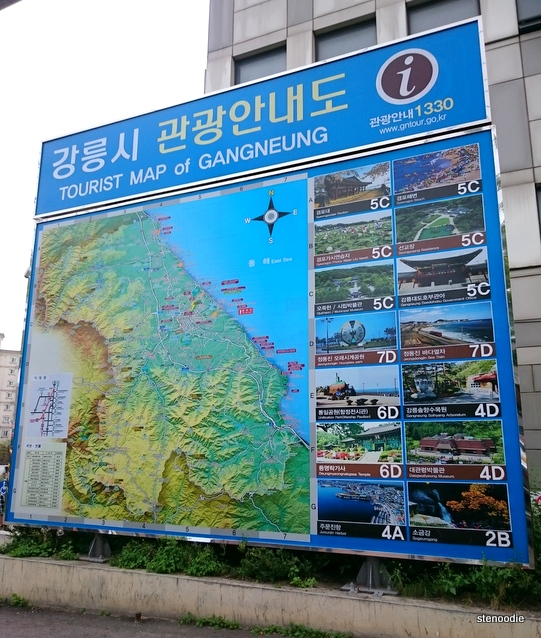 tourist map of Gangneung