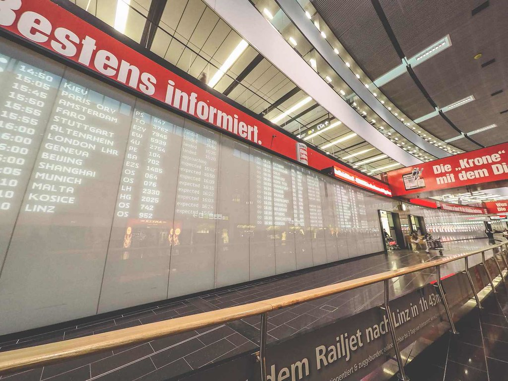 Vienna airport arrivals hall