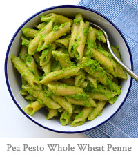 Pea Pesto Whole Wheat Penne Rigate