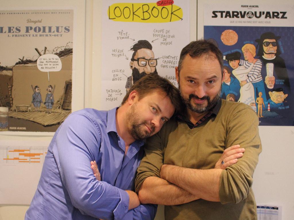Olivier Sulpice (Bamboo) et Yan Lindingre (Fluide Glacial)