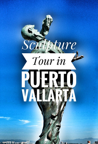 Puerto Vallarta Sculpture Tour Poster Created in SnapSeed