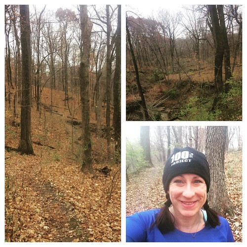 Started my Thanksgiving Day on the trails. Like a slow ninja, I managed to get in my whole run without seeing most of the tri club group I'd been too late to start with. #trailrunning #optoutside #soloturkeytrot