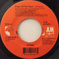 STING:SHAPE OF MY HEART(LABEL SIDE-A)