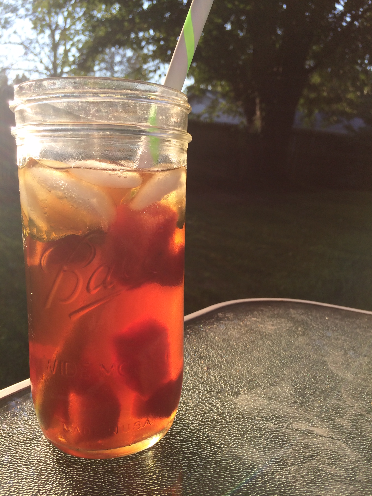 watermelon mint sun tea