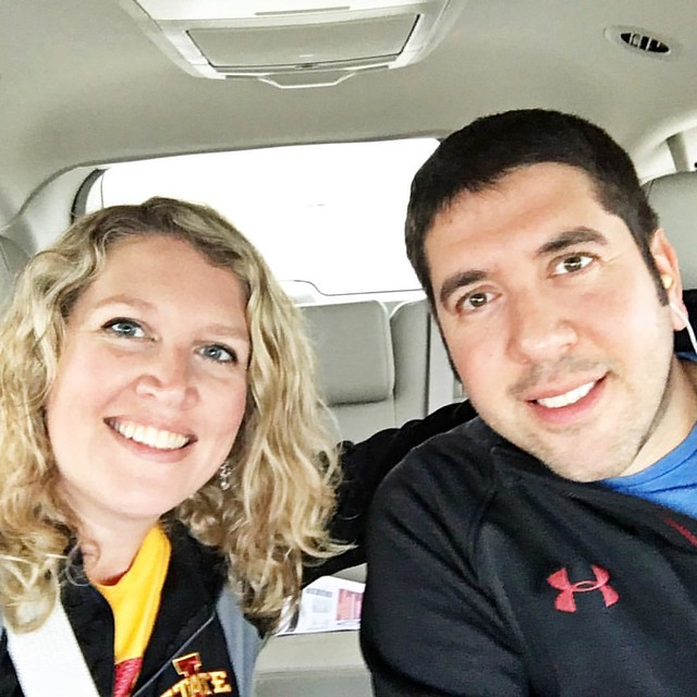 On the road again! This time to the ISU football game! #gocyclones