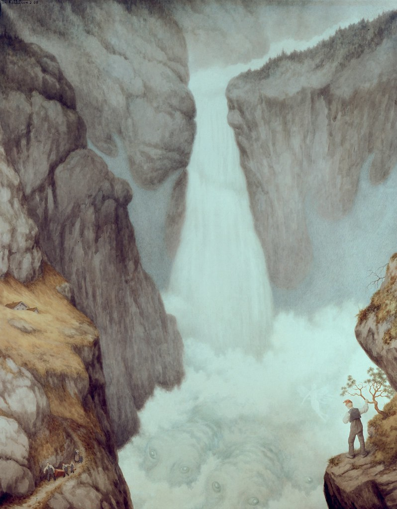 Theodor Kittelsen - The Waterfall, 1907