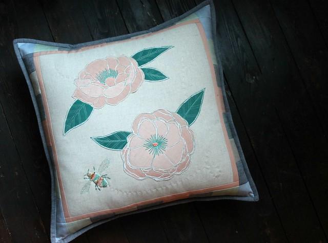 Garden Dreamer Embroidered Pillow