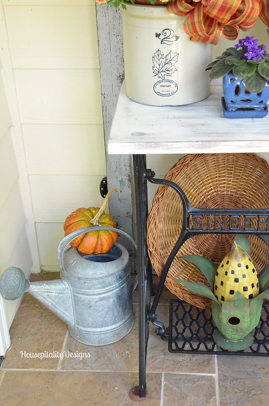 Vintage Watering Can - Sewing Table - Housepitality Designs