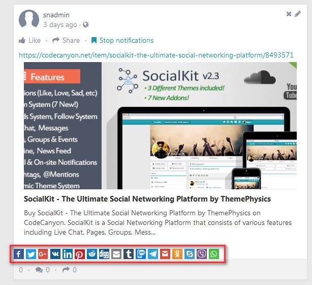 Advanced Social Share Pro for Socialkit - 1
