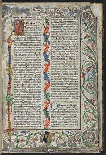 Biblia latina - Decorated page