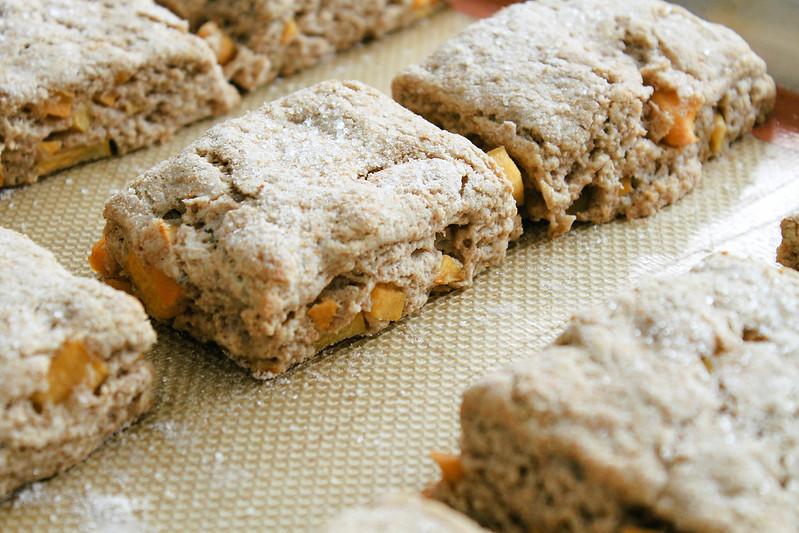PERSIMMON RICOTTA SCONES: freshly baked
