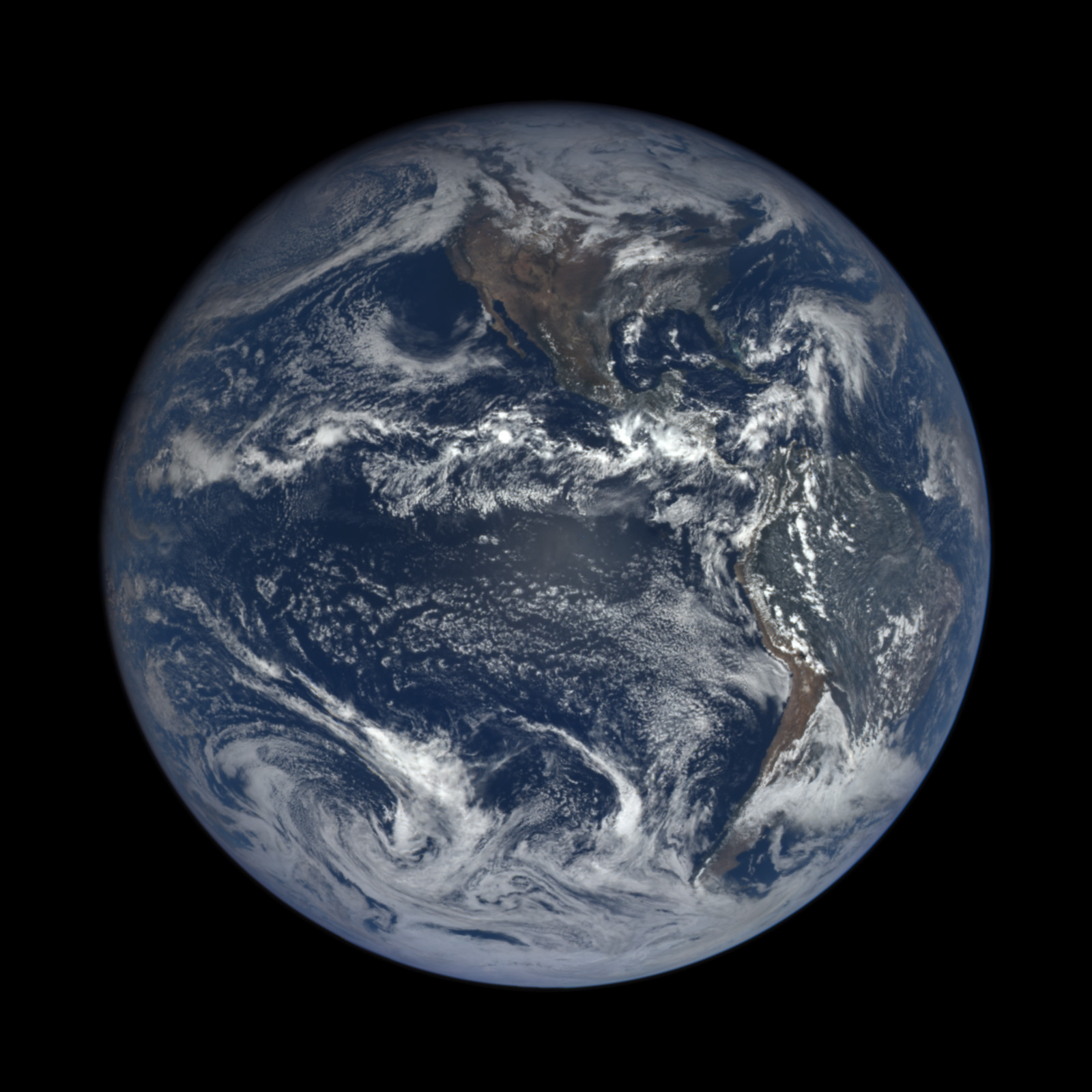 Earth from NASA's EPIC camera, on NOAA's Deep Space ...