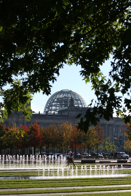 Through the Trees towards the Reichstag