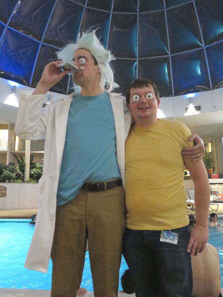 Rick and Morty cosplayers