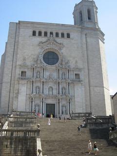 Escalinata de la catedral de Girona.