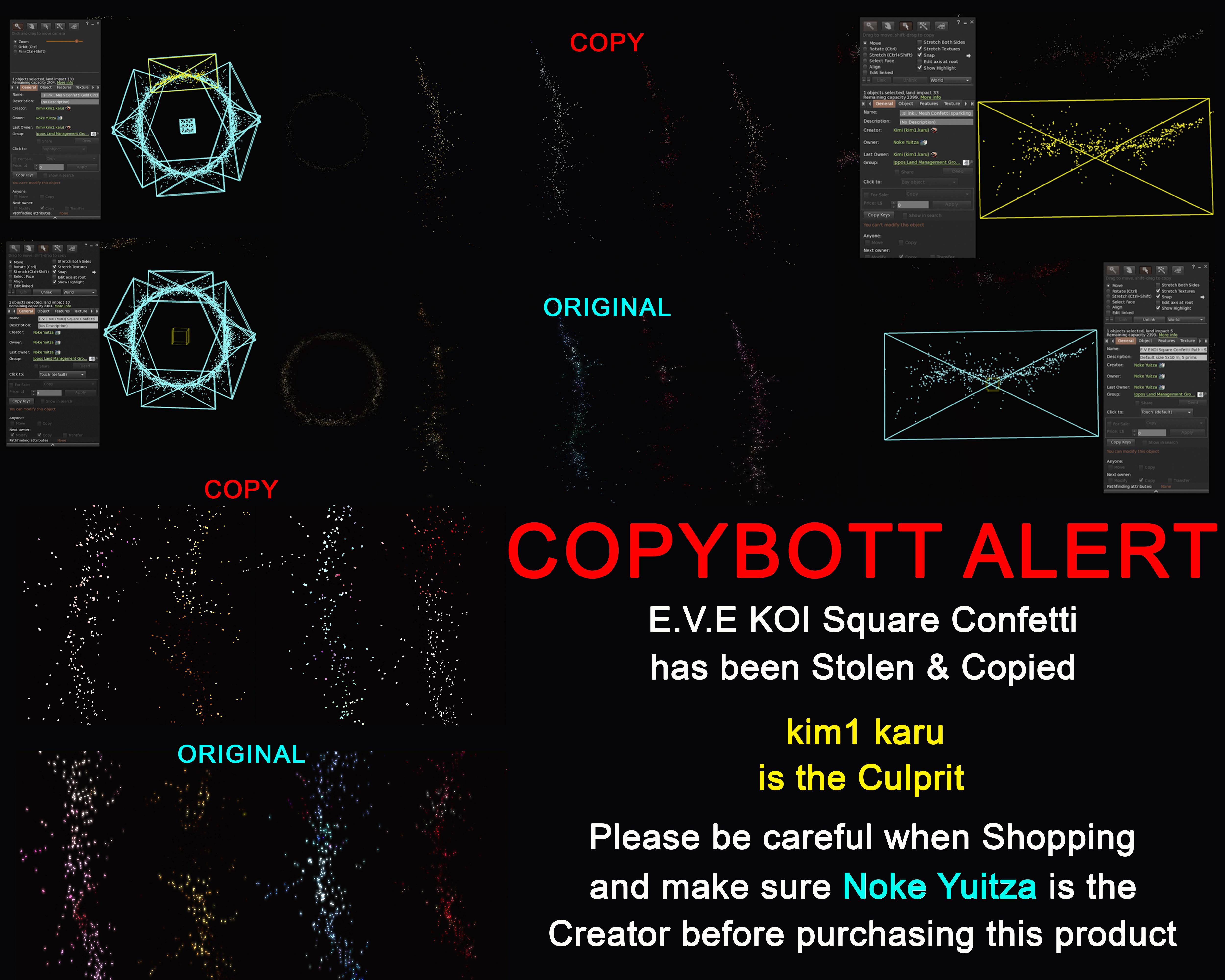 Copybott Alert... E.V.E KOI Square Confetti