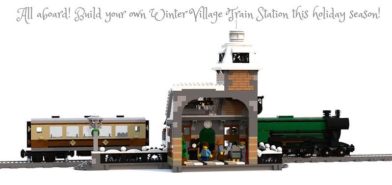 Lego Moc 5989 Winter Village Train Station Seasonal Christmas
