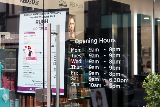 RUSH HAIR MANCHESTER OPENING TIMES