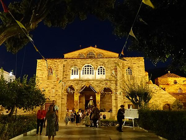 la basilique la nuit