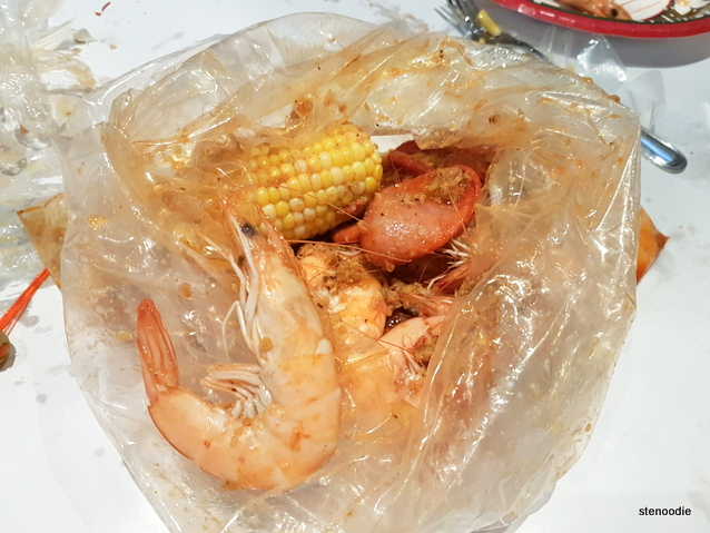 Shrimp with Sweet Corn and Sausage