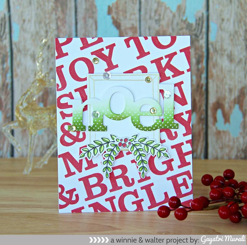 Green NOEL card
