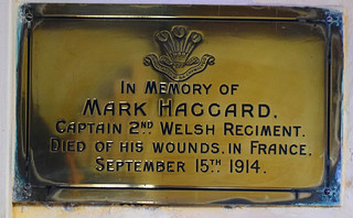 Died of his wounds in France