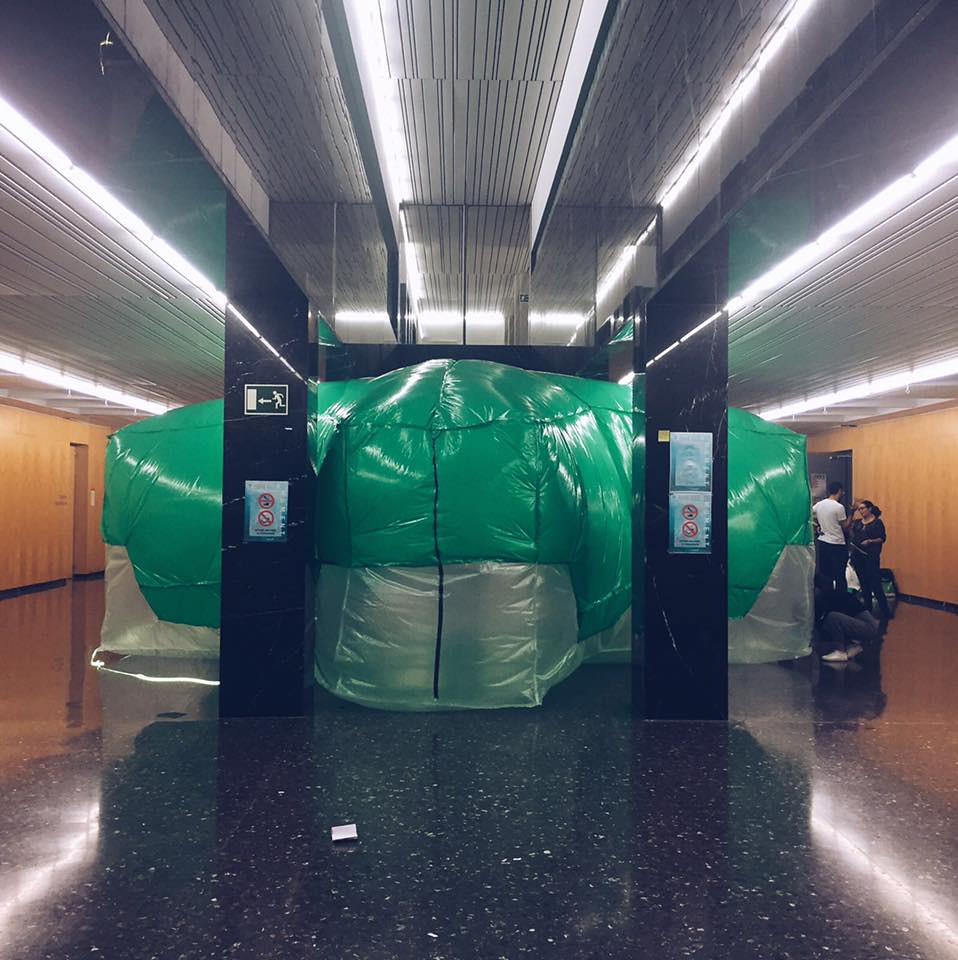 ETSA Valencia, SomethingFashion, Conjuntos Empáticos, pneumatic architecture plastic inflatable, escuela técnica superior arquitectura valencia, airmomentUPV
