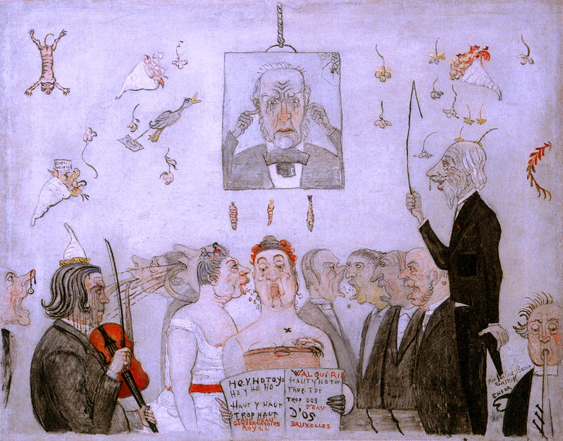 James Ensor - At The Conservatory With The Academy, 1902