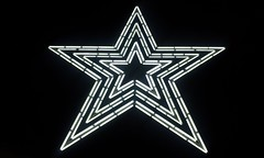 Mill Mountain Star at nite